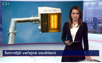 Česká Televize:  Jesenice je první obec v Evropě používající šetrné osvětlení