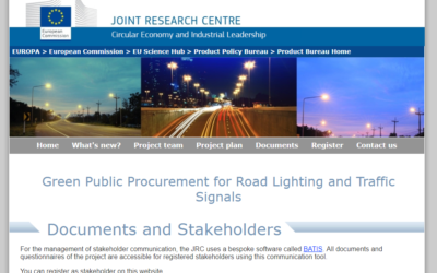 Green Public Procurement for Road Lighting and Traffic Signals