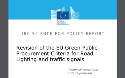 Revision of the EU Green Public Procurement Criteria for Road Lighting and traffic signals