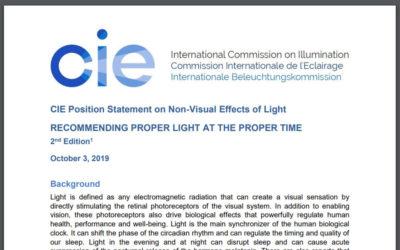 Stanovisko CIE (International Commission of Illumination) k ne-vizuálním efektům světla