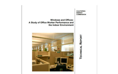 Windows and Offices: A Study of Office Worker Performance and the Indoor Environment