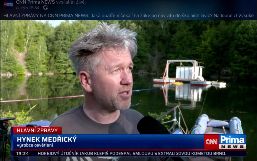 CNN Prima news: Naše spoluúčast na unikátním projektu kosmického výzkumu Hydronaut