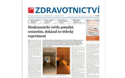 ZeZdravotnictvi: Biodynamické světlo pomáhá seniorům, dokázal to vědecký experiment